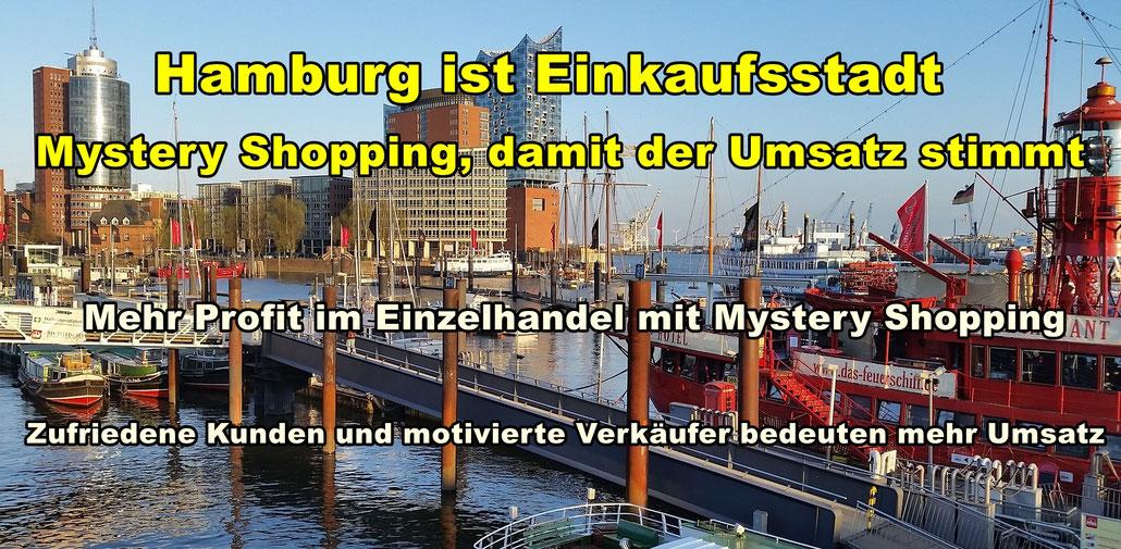 Panorama Hamburg. Mystery Shopping damit der Umsatz stimmt