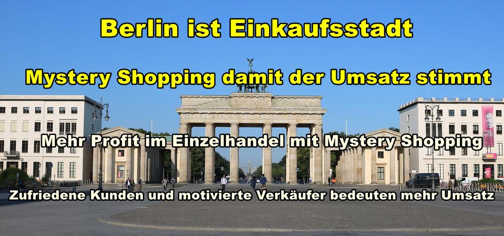 Panorama Berlin. Mystery Shopping damit der Umsatz stimmt