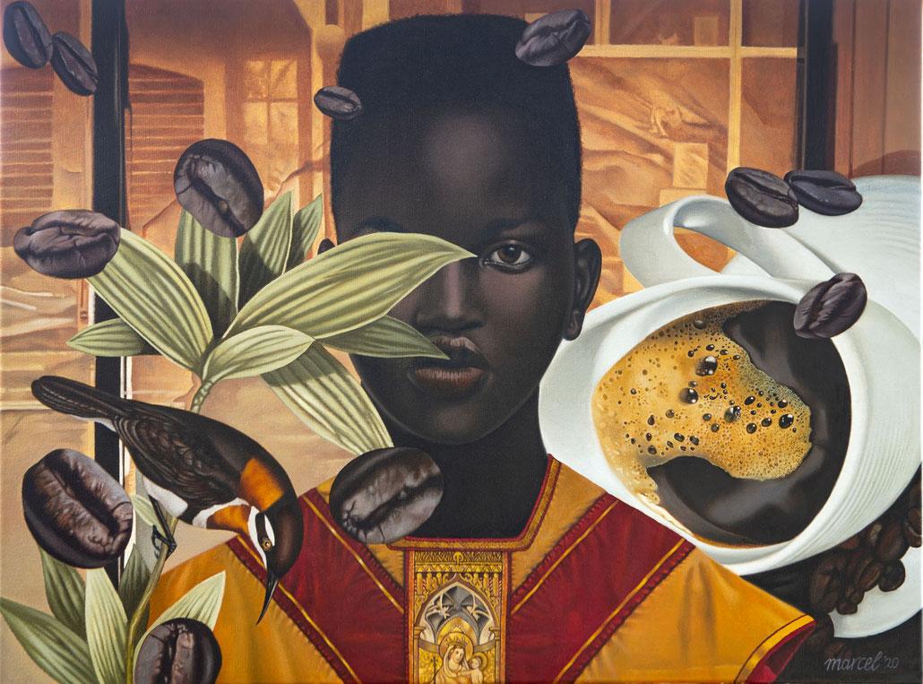 Marcel Rozenberg, Coffee, 80x60 cm