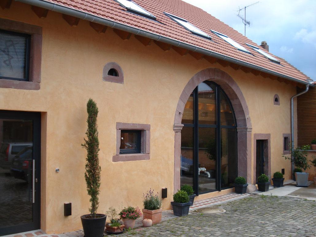 Kalkfassade von Hessler