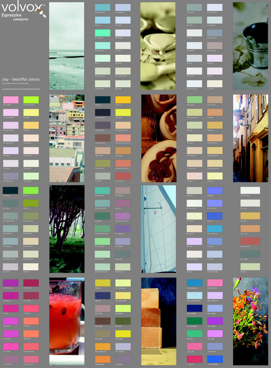 Farbmusterkarte Espressivo Leporello, Volvox