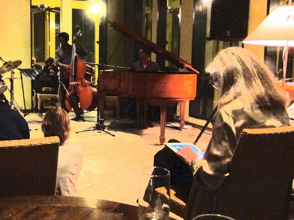 making jazz art, Healdsburg Jazz Festival, Vijay Iyer, iPadJAZZart.com, Claire Iris Schencke