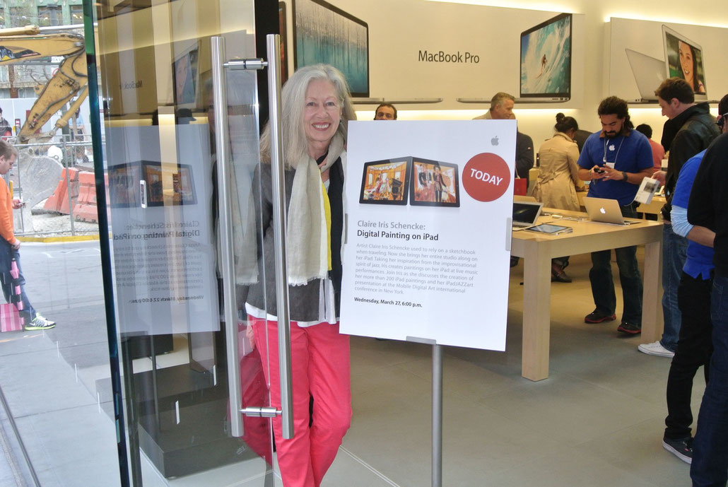 Happy to be making a presentation about iPad painting at Apple's Flagship Store on Union Square in SF