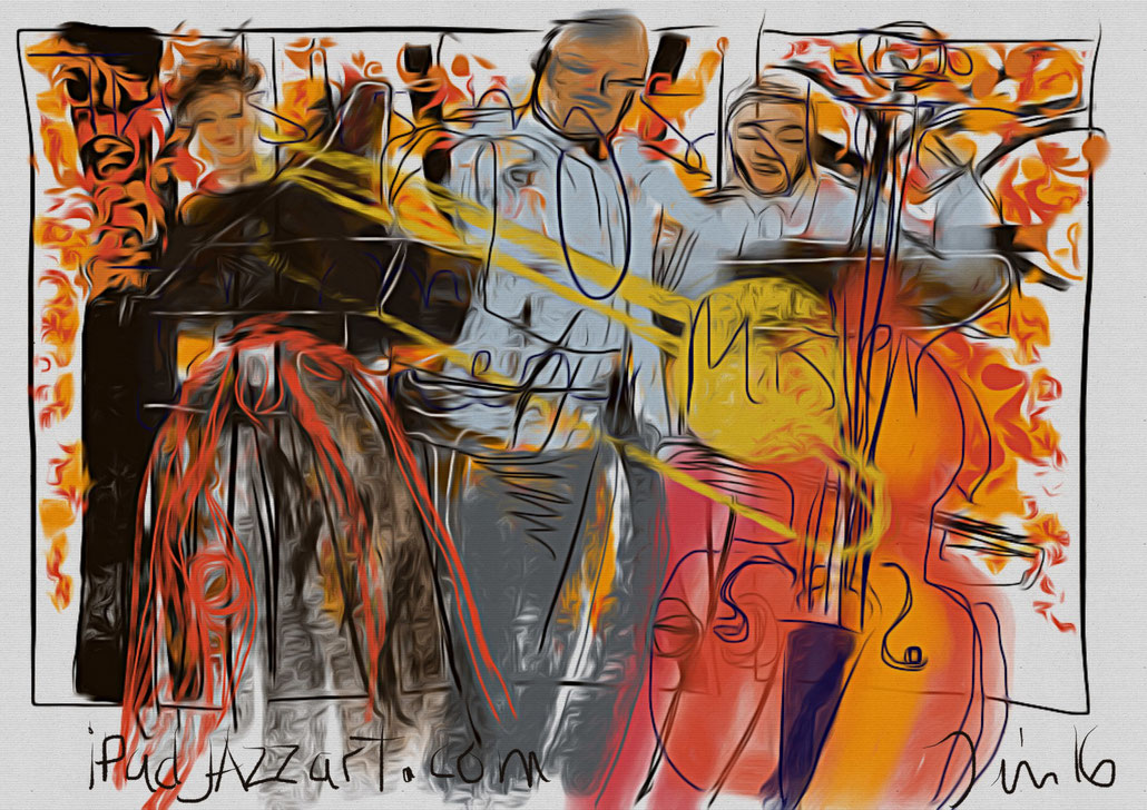 The Gospel Show, Wycliffe Gordon, Niki Haris, The Jazz Cruise, iPad Pro, procreate app, ipadjazzart