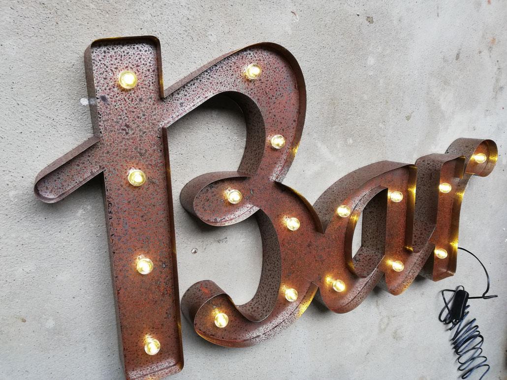 Bar Leuchtsignet Schweiz LED Signet Vintage