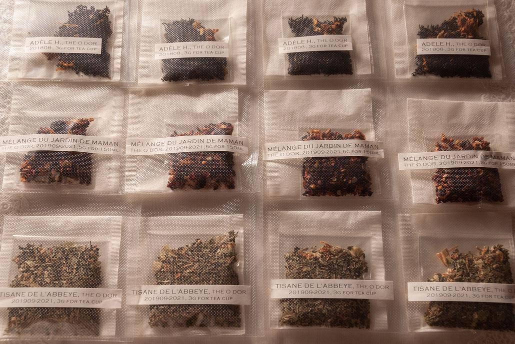 Black Tea, Herb Tea Red, Herb Tea Yellow (trial version), Fleur*Fleur*