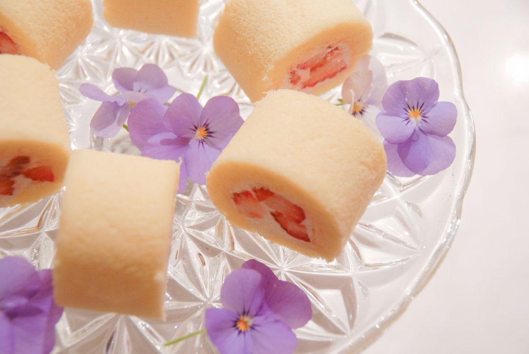 rouleau de gateau petit  薄焼きスポンジ1、2、ミニロールのキャンディ風