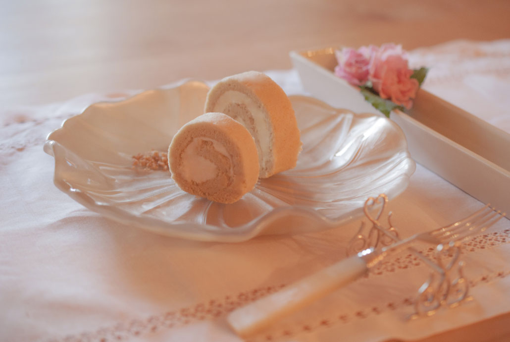 Maple roll cake L, M, Fleur*Fleur*