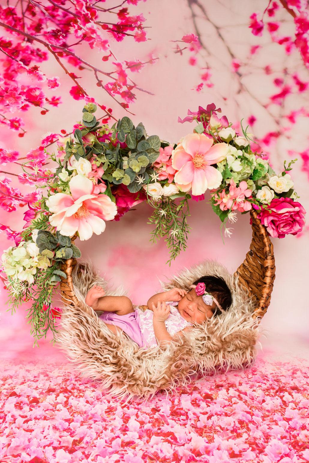 baby sleeps in cradle