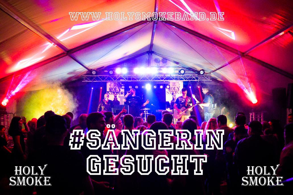 Holy Smoke Rock Coverband und Partyband aus Hessen im Main-Kinzig-Kreis MKK sucht neue Sängerin!