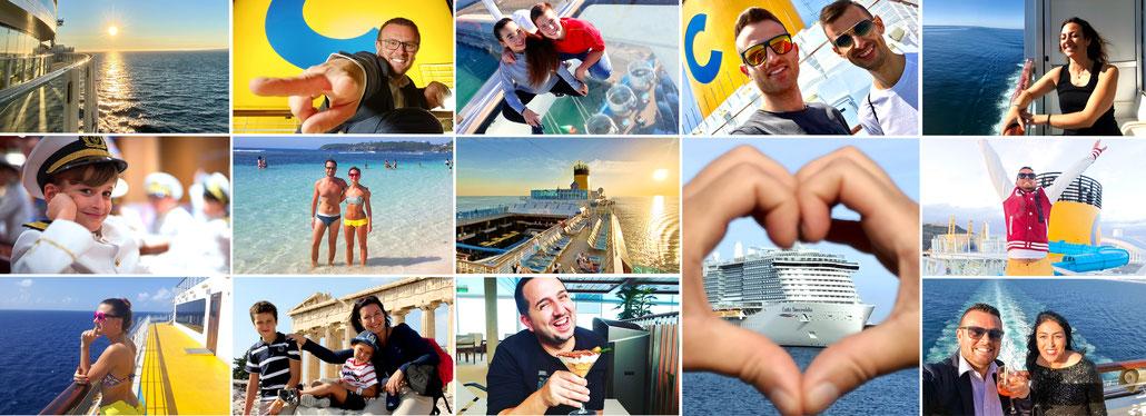 """Neue Werbekampagne von Costa Kreuzfahrten: """"die Ferien, die wir vermissen""""."""