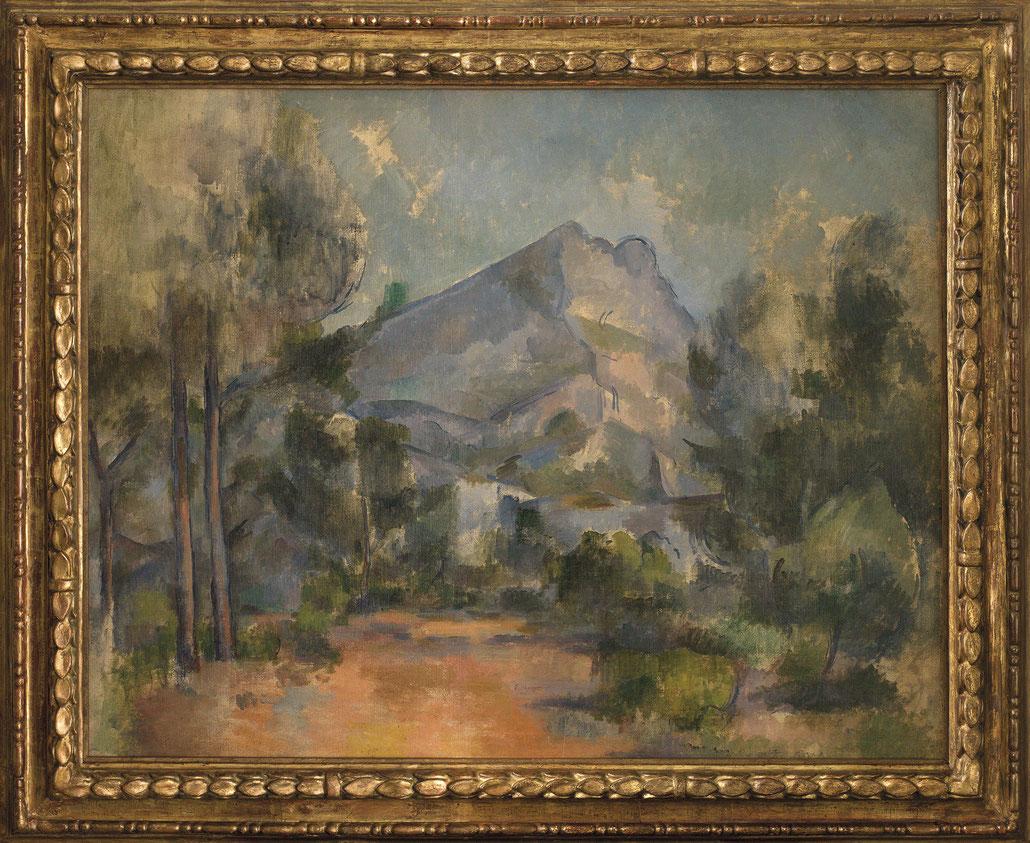 Paul Cézanne, La Montagne Sainte-Victoire, 1897, Öl auf Leinwand, doubliert, 73 x 91,5 cm, Kunstmuseum Bern, Legat Cornelius Gurlitt 2014