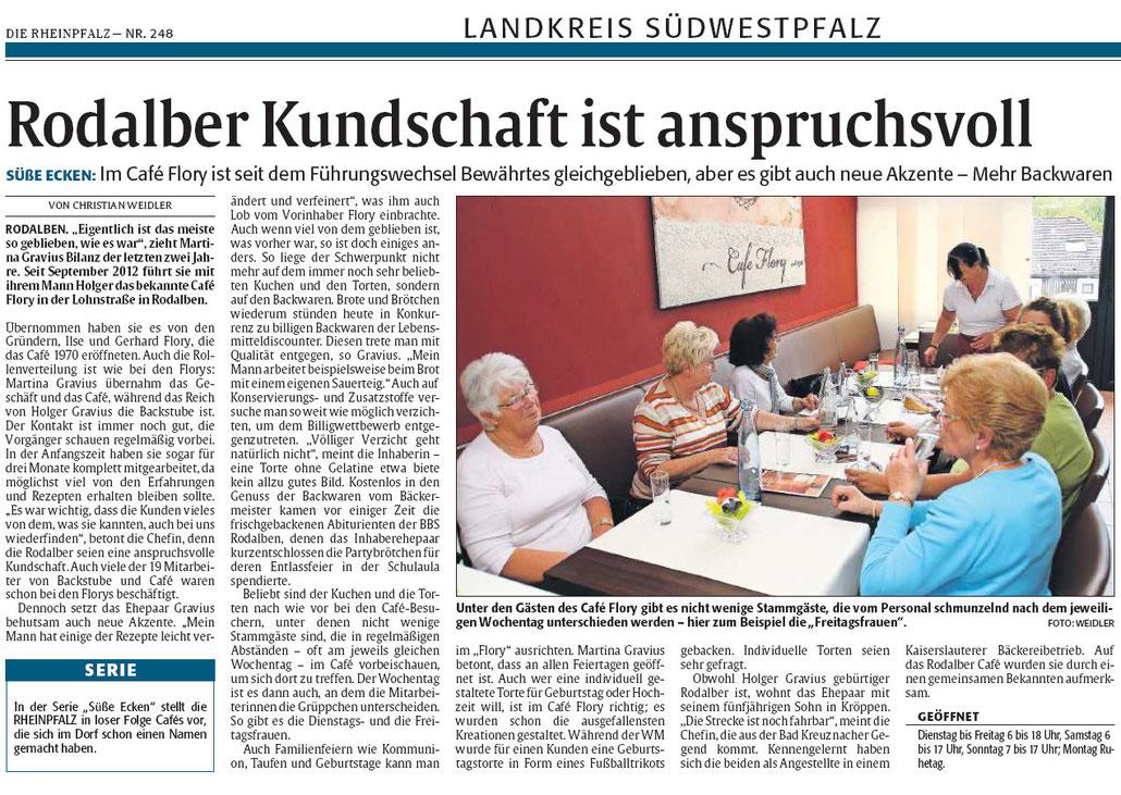 Quelle: Rheinpfalz 25.10.14