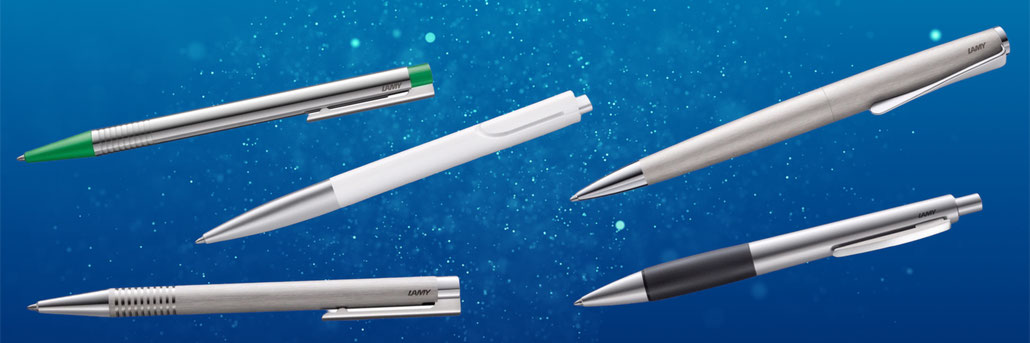 Lamy Kugelschreiber Sortiment: Lamy logo, Lamy noto, Lamy cp1, Lamy studio und Lamy accent