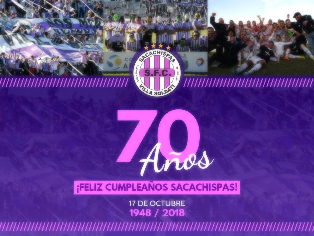 Sacachispas 70 anos