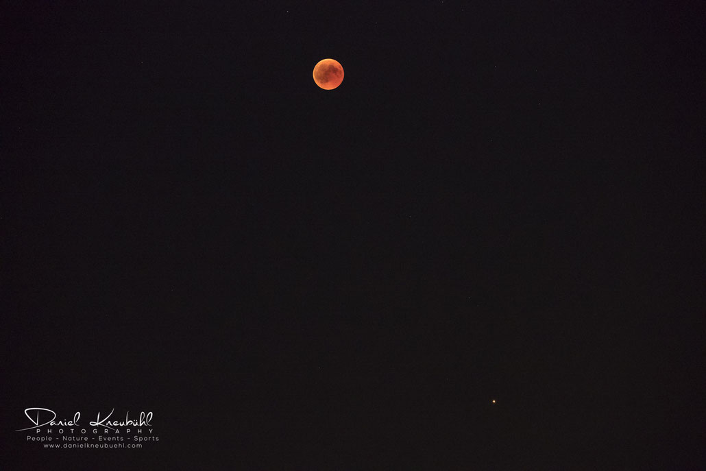 Mond, Vollmond, sonar eclipse, Mars