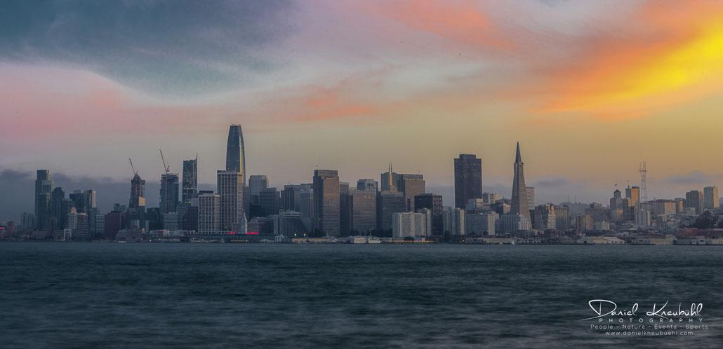 Sunset, San Francisco, USA, Skyline, www.danielkneubuehl.com, Photographer/Fotograf: Daniel Kneubühl