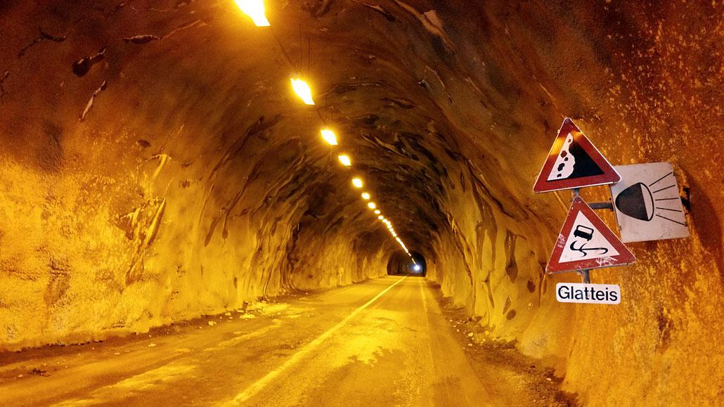Rosi-Mittermaier-Tunnel (Ötztaler Gletscherstrasse) © Pässe.Info
