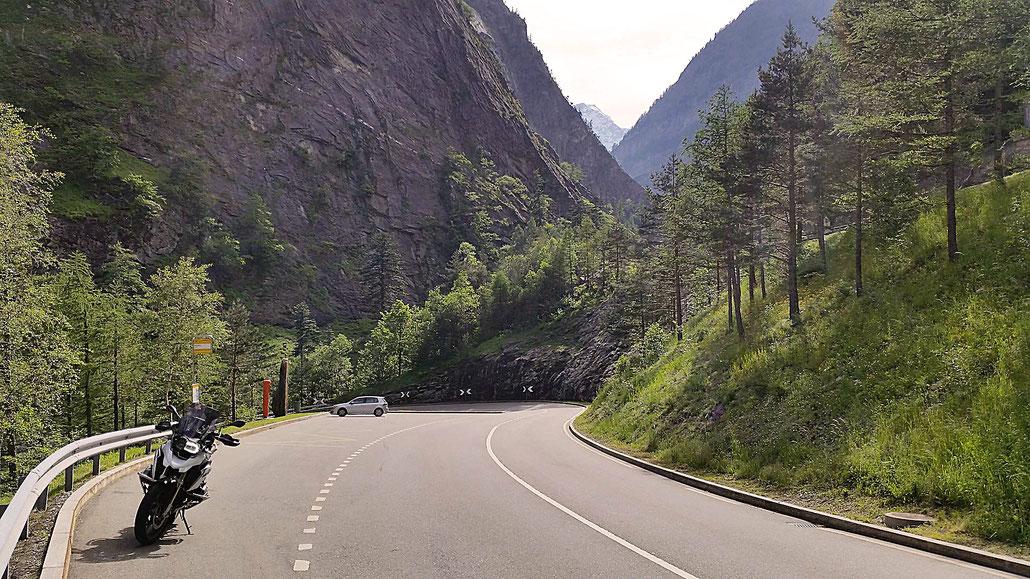 Simplon-Pass Richtung Italien © Pässe.Info