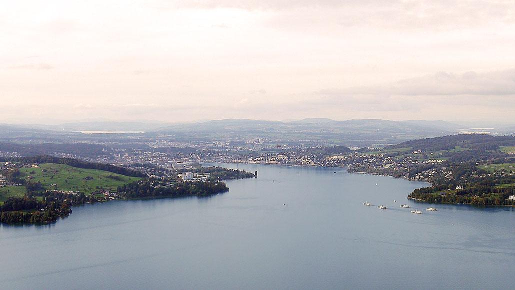 Blick vom Bürgenstock auf Luzern © Pässe.Info