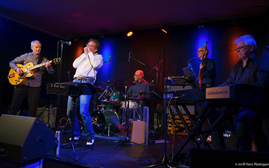 Nilo Bortot (g) | Ronny Kummer (voc/harm) | François Cuvit (dr) | Jost Aregger (b) | Reto Schiegg (p)  (Foto: Hans Nydegger)