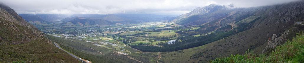 Panorama des Tales von Franschhoek