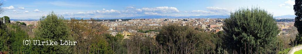 Panorama: Rom von der Piazzale Garibaldi aus gesehen