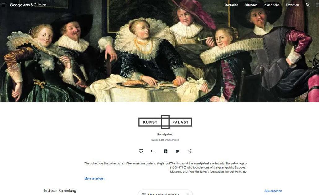 Screenshot: Virtuell in das Museum Kunstpalast