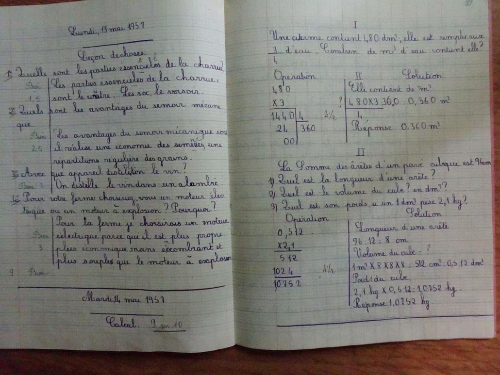 Cahier de Jean-Paul Tricoire
