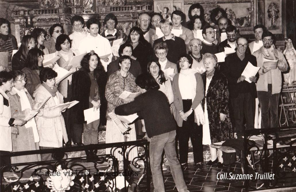 Mars 1986 la chorale avec les stagiaires