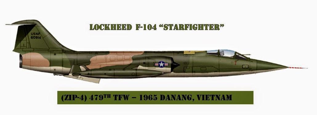 """Zip-4 era il codice radio degli F-104, che in occasione del rischieramento ricevvette la mimetizzazione """"Three tones"""""""