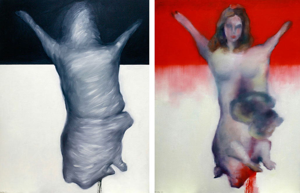 Photoshop (Diptych, 160 x 120 cm each, oil on canvas, 2011)