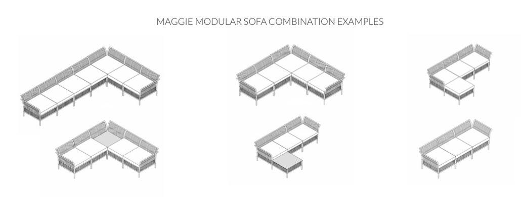 Kombinieren Sie die Module ganz nach ihren Bedürfnissen und Platzverhältnissen!