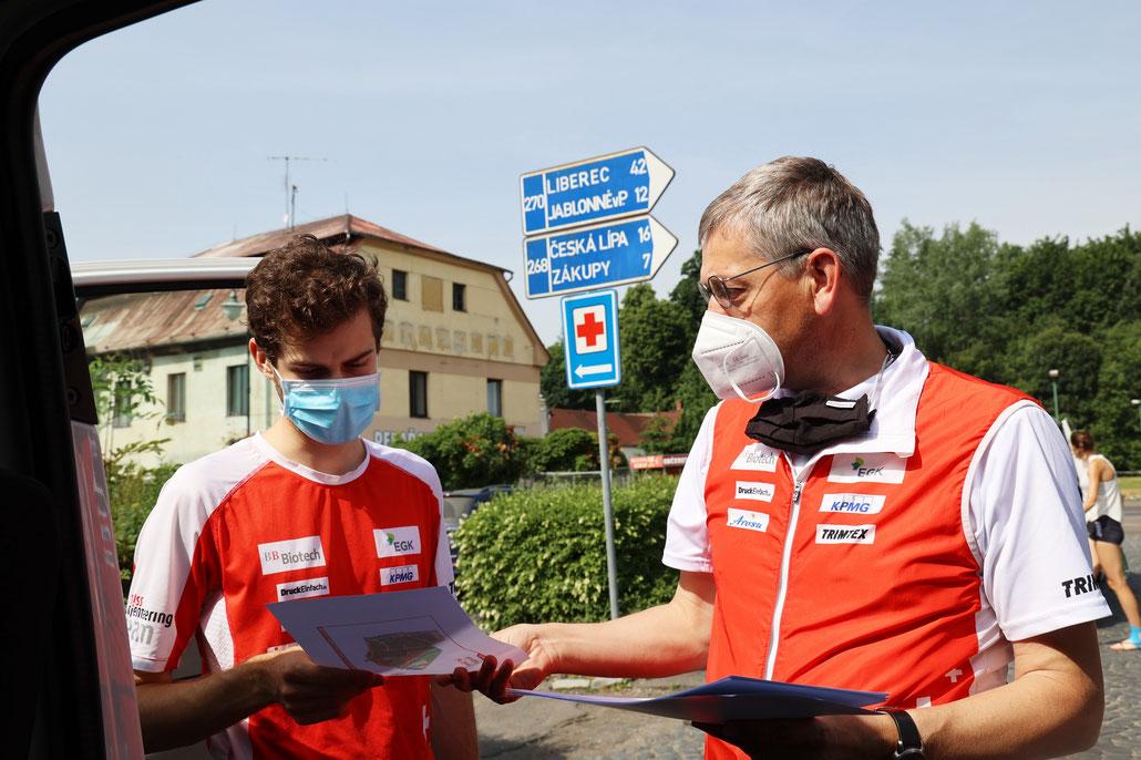 Vorbereitungen in Tschechien (Foto: Orienteeringfocus)