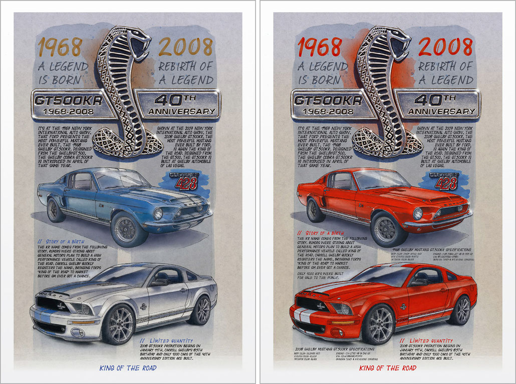 Shelby GT500KR limited and personalized print