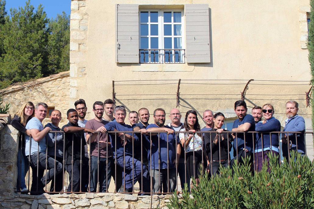 L'équipe du Hameau des Baux, saison 2017
