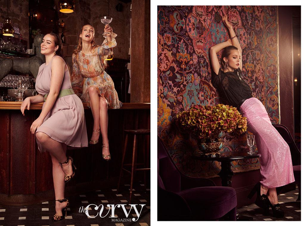 Modestrecke für The Curvy Magazine im Renthof Kassel mit Looks von Doris Megger, Sfizio, Gucci von Yvonne Sophie Thöne