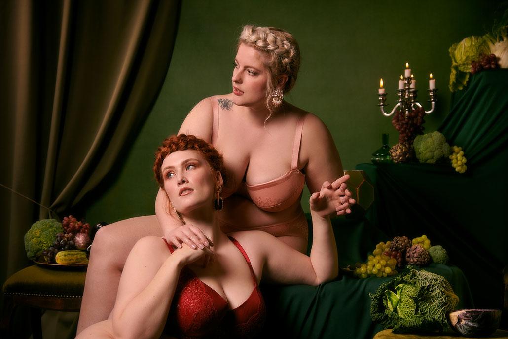 Boudoirfotografie inspiriert von den Alten Meistern mit Curvy Models