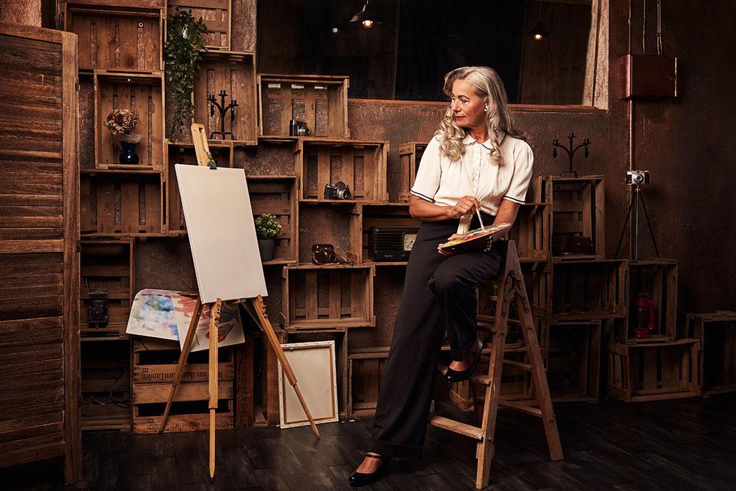 Best Ager Model fotografiert für Peggy Sue Frankfurt - Retromode Commercial Werbefotografie in Kassel und Frankfurt