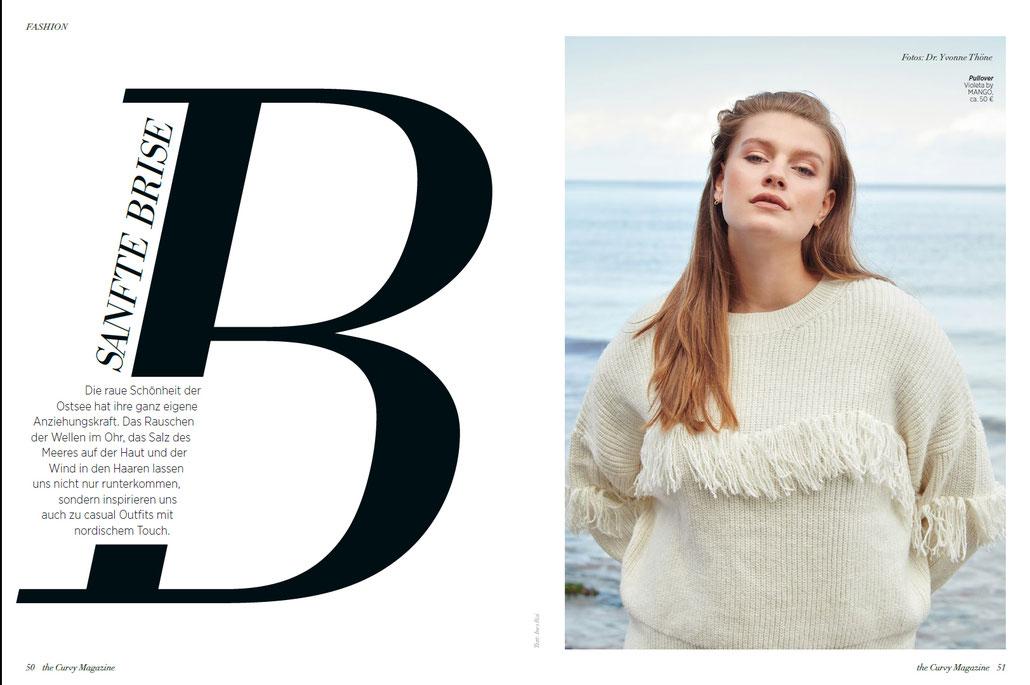 Modestrecke an der Ostsee für The Curvy Magazine mit Model Lottii Fuchs von Modefotografin Yvonne Sophie Thöne