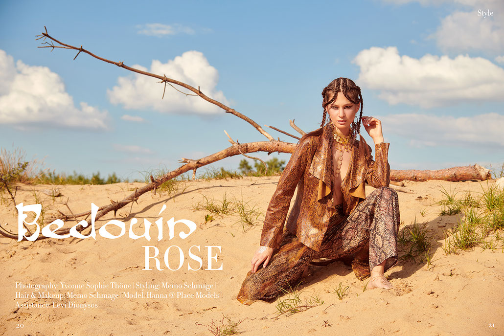Bedouin Rose - Fashion Editorial inspiriert von Nomaden mit Stylist Memo Schmage und Fotografin Yvonne Sophie Thöne in Berlin