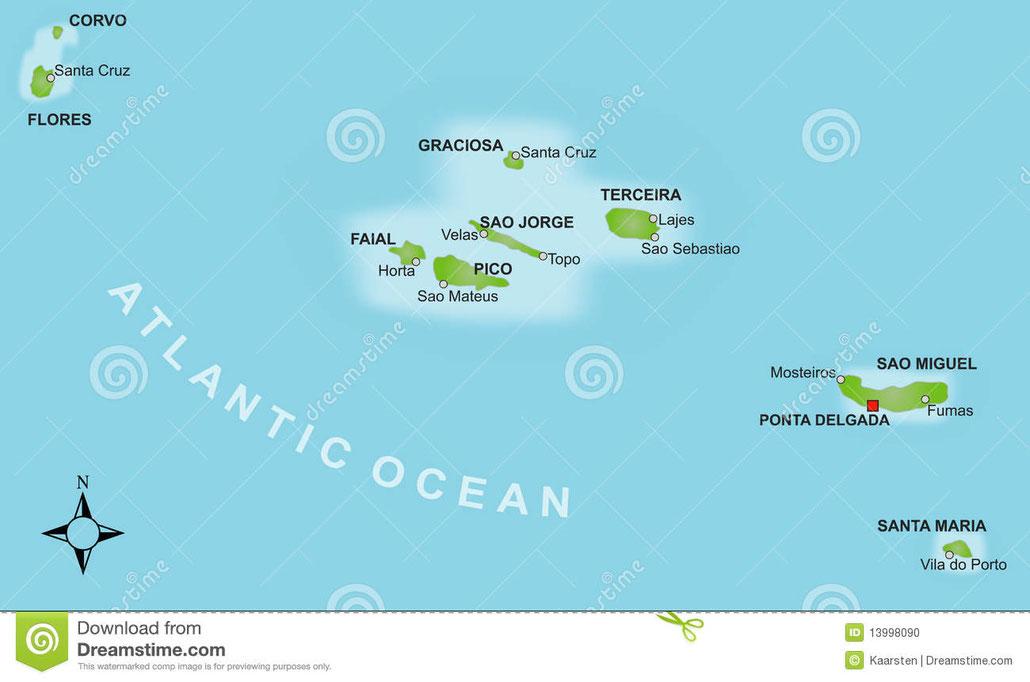 Zeiljachten te huur in de Azoren voor zeilvakanties vanaf Horta op Fayal