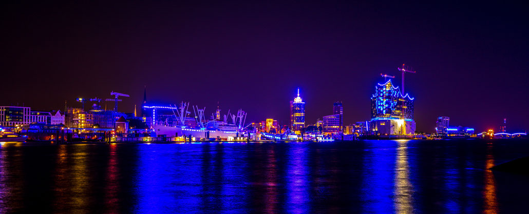 Blue Port skyline of Hamburg; July 2014