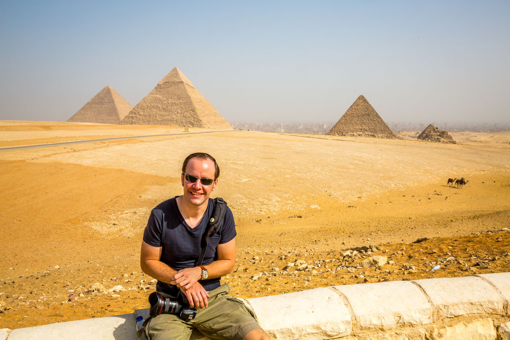 November 2014: Me in front of the Pyramids of Giza