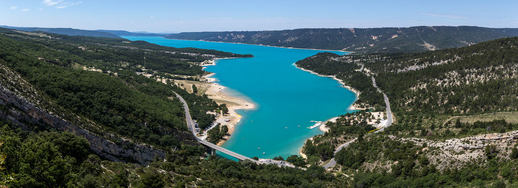 Lac de Sainte-Croix is an artificial lake at the end of Gorges du Verdon.