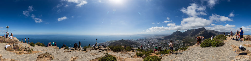 Panorama on top of Lion's Head, Capetown