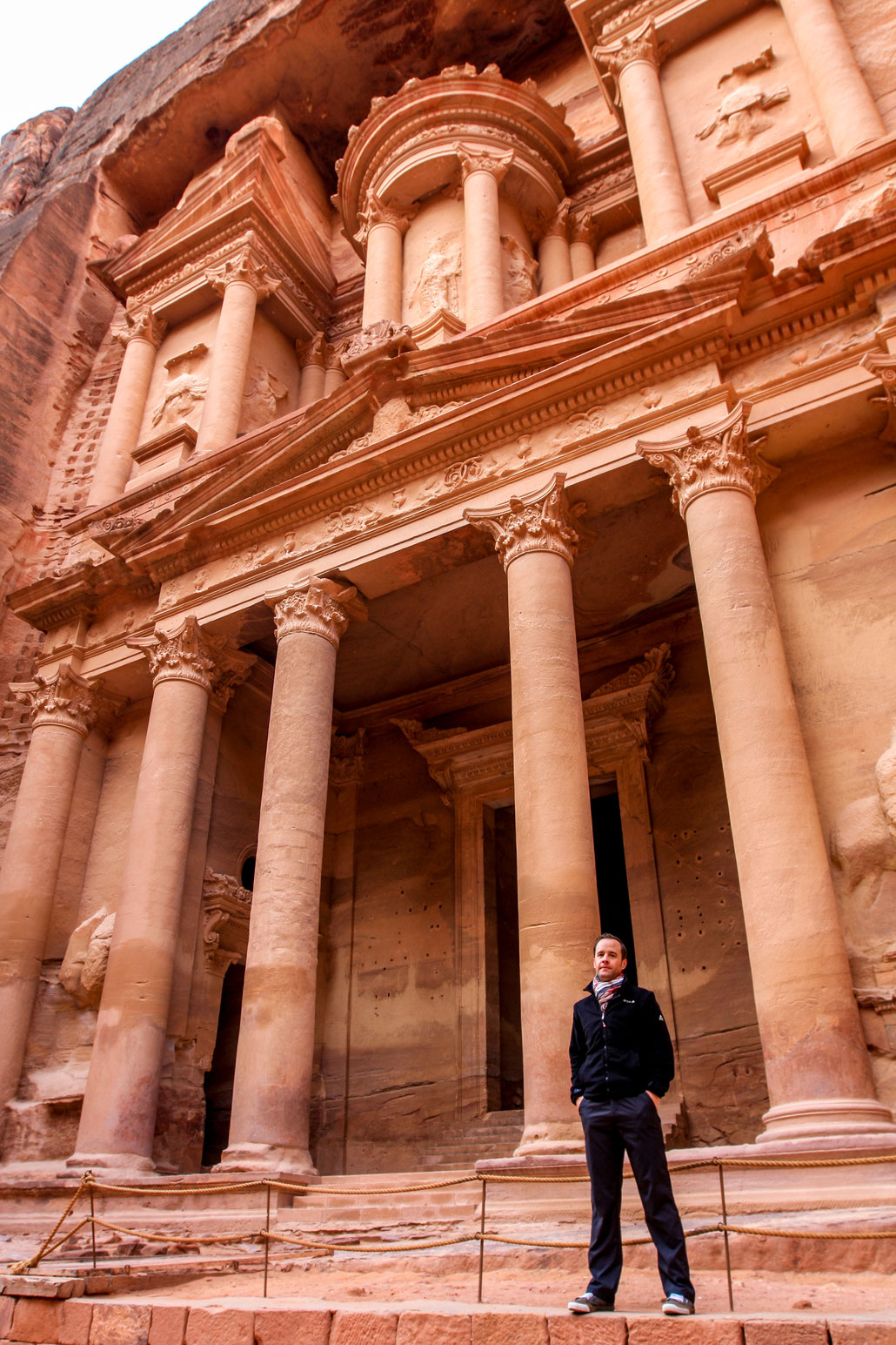 Me at the massive Khazne al-Firaun front in Petra