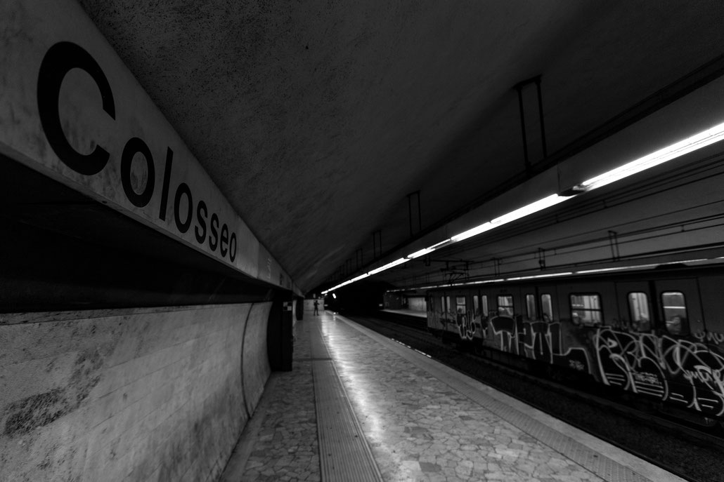 "Nothing special but I like the leading lines of the metro station ""Colosseo"""