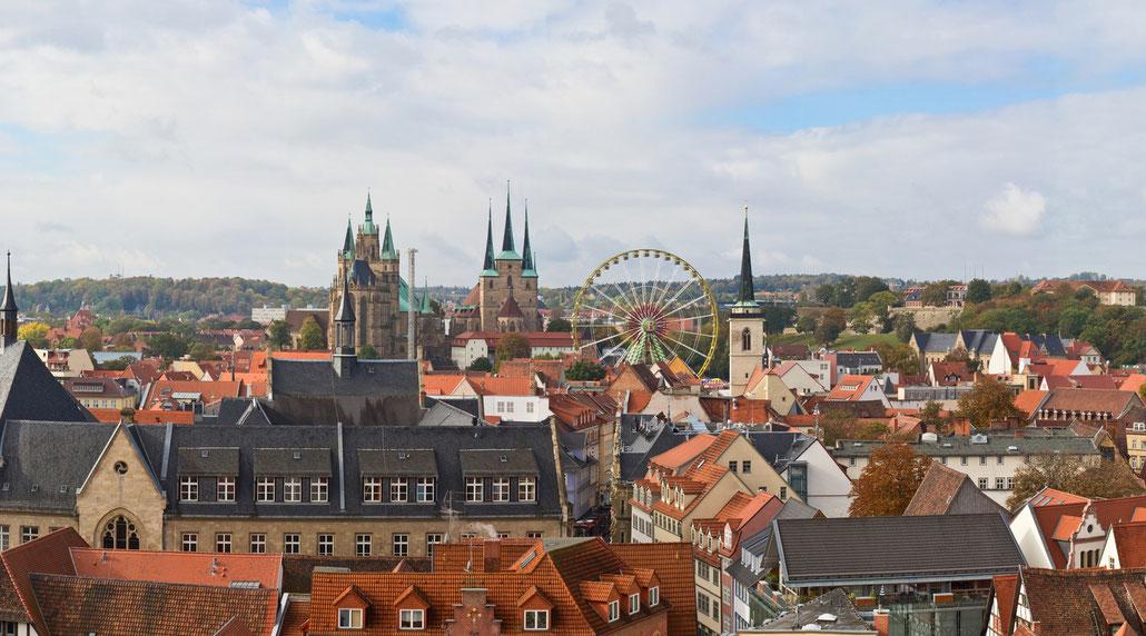 Stadtführungen in Erfurt: Blick über die Erfurter Altstadt