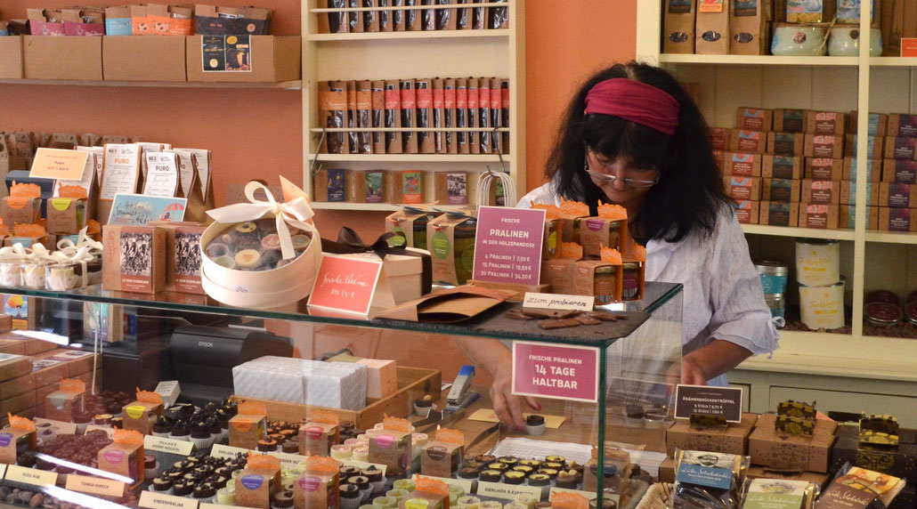 In der Goldheim Schokoladenmanufaktur in Erfurt